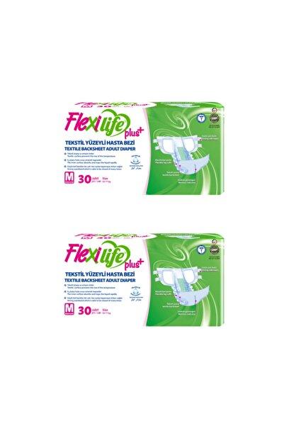 Flexi Life Plus Tekstil Yüzeyli Hasta Bezi Orta Boy-Medium 30'lu 2 Paket 60 Kullanım