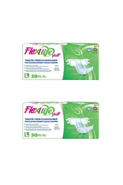 Flexi Life Plus Tekstil Yüzeyli Hasta Bezi Büyük Boy-Large 30'lu 2 Paket 60 Kullanım