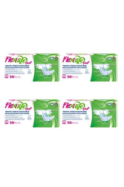 Flexi Life Plus Tekstil Yüzeyli Hasta Bezi Orta Boy-Medium 30'lu 4 Paket 120 Kullanım