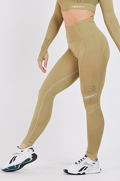 Dikişsiz Spor Tayt | Olive Power | Seamles Leggings / Aktive Power Serisi