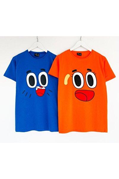 2 Adet Gumball Ve Darwin Baskılı Kadın Tshirt