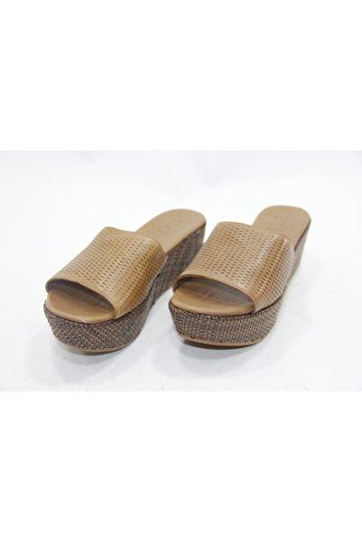İnci Kadın  Kahverengi Hakiki Deri Topuklu Ayakkabı