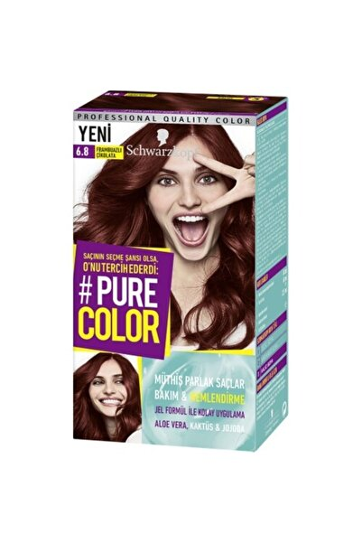SCHWARZKOPF HAIR MASCARA Pure Color 6-8 Frambuazlı Çikolata