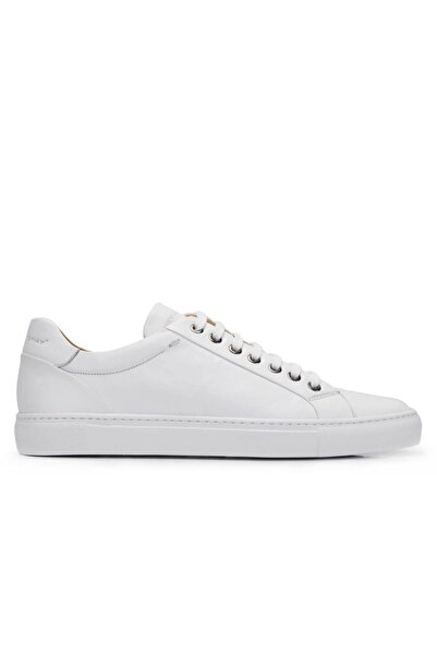 Nevzat Onay Hakiki Deri Beyaz Spor Erkek Ayakkabı -11571-