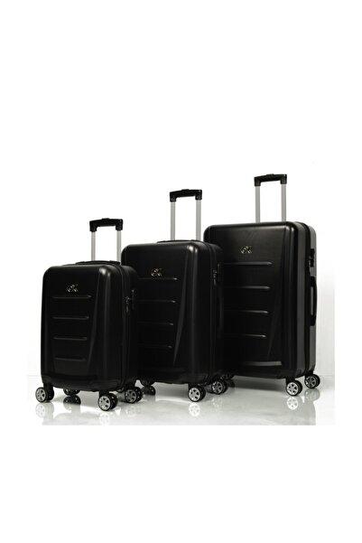 OX Dominica 3 Lü Siyah Valiz Seti (büyük+orta+kabin)