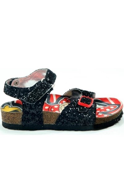 Gigi Mınnıe Mouse Kız Çocuk Siyah Pullu Sandalet