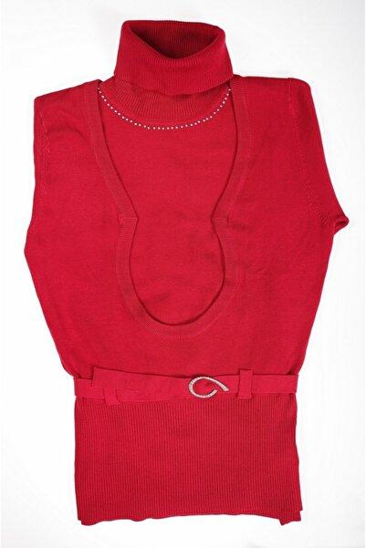 Sude Kadın Kırmızı Triko Bluz 6399