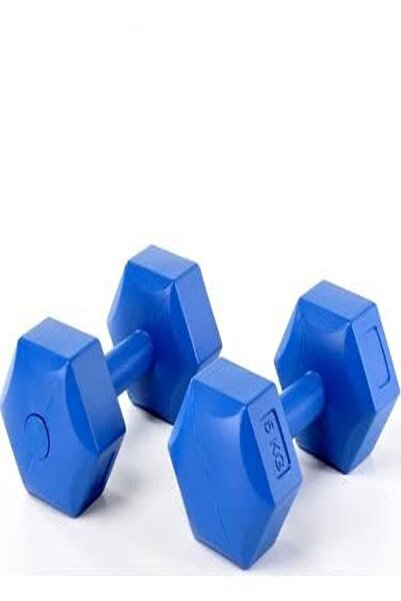 Unisex Plastik Dambıl 2 Adet 5 Kg Dumbbell 10 Kg