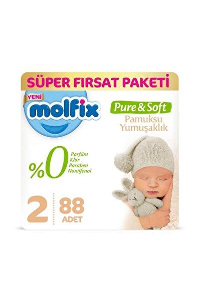 Molfix Pure&soft Bebek Bezi 2 Beden 3-6 Kg 88 Adet