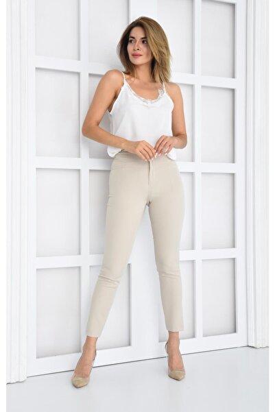 İroni Yüksek Bel Korsajlı Pantolon