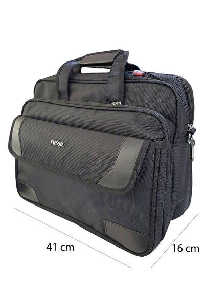 Evr 7015 Omuz Askılı Laptop Bölmeli Evrak Çantası Siyah
