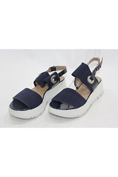 İnci Kadn Lacivert 37 Numara Hakiki Deri Sandalet Ayakkabı