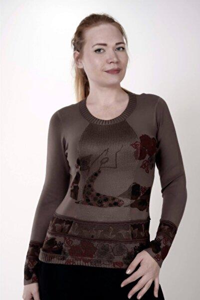Sude Kadın Kahverengi Triko Bluz 7610