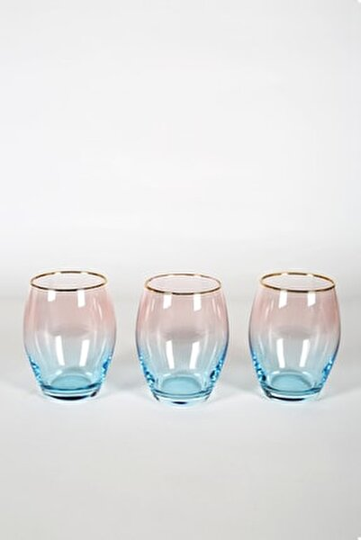 Serenade 3'lü Meşrubat Bardağı Seti Turkuaz 390 cc