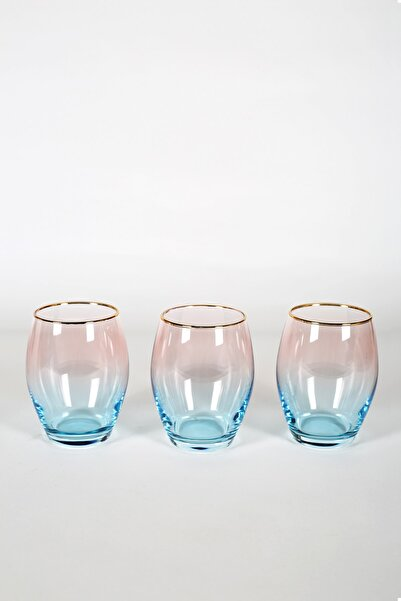 Rakle Serenade 3'lü Meşrubat Bardağı Seti Turkuaz 390 cc