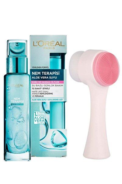 L'Oreal Paris Nem Terapisi Aloe Vera Suyu Kuru Ve Hassas Ciltler Ve Fluweel Cilt Temizleme Fırçası