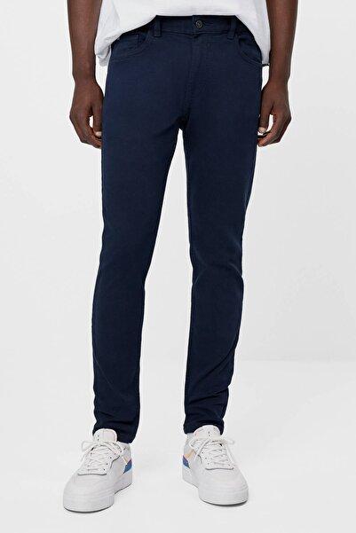 Bershka Erkek Mavi Super Skinny Fit Pantolon
