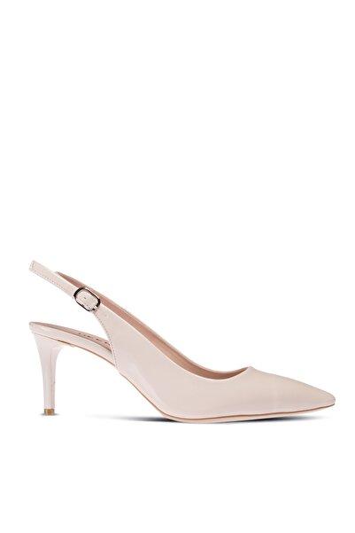 Deery Kadın Bej Rengi Rugan Topuklu Ayakkabı
