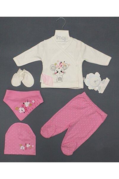 İmaj Kız Bebek 5li Zıbın Takım, Minik Fare Baskılı, Bebe