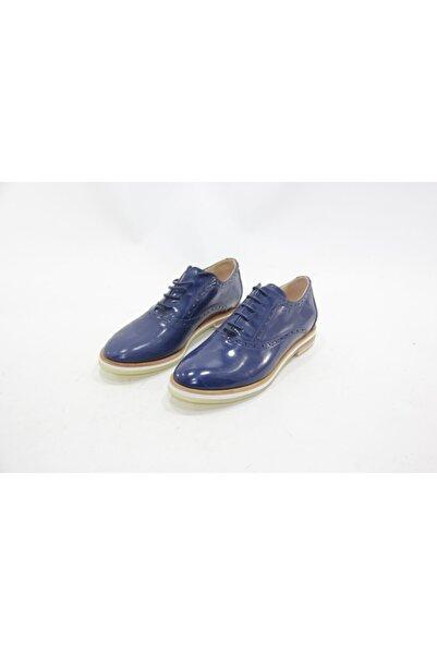 İnci Kadın Mavi 37 Numara Hakiki Deri Klasik Ayakkabı