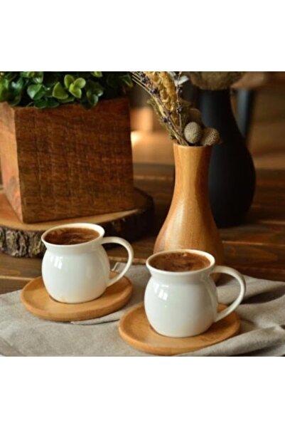 Bambum Largi 2 Kişilik Kahve Takımı Beyaz