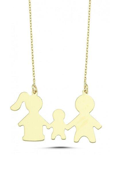 Koçak 14 Ayar Altın Anne Baba Çocuk Kolye FRV-14KLY1482