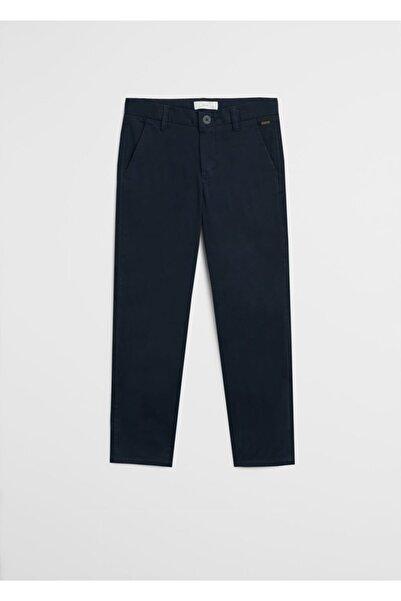 MANGO Kids Erkek Lacivert Düz Kesim Pantolon