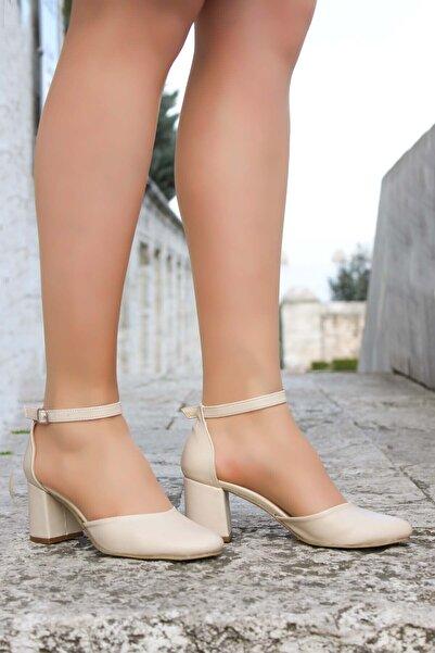 FAST STEP Bej Kadın Kalın Topuklu Ayakkabı 917ZA701