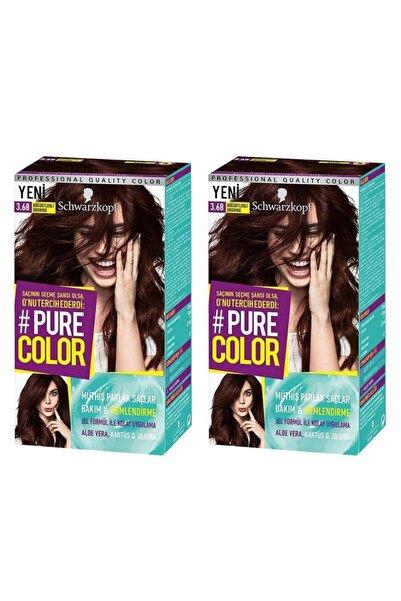 SCHWARZKOPF HAIR MASCARA Pure Color 3-68 Böğürtlenli Brownie X2