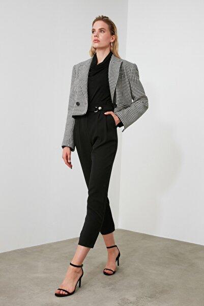 Siyah Çıtçıtlı Pantolon TWOSS20PL0131