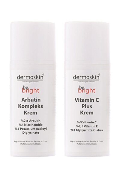 Dermoskin Be Bright Arbutin Kompleks Krem + Be Bright Vitamin C Plus Krem -2'li Avantaj Paket