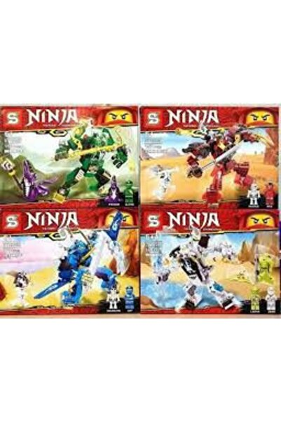 SUDEN Ninja Go Lego 4 Set Birlikte  343 Parça