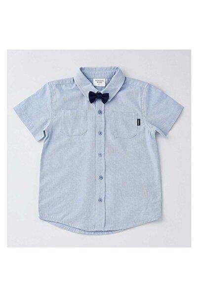 Wonder Kıds Wonder Kids Kısa Kollu Papyon Detaylı Mavi Gömlek