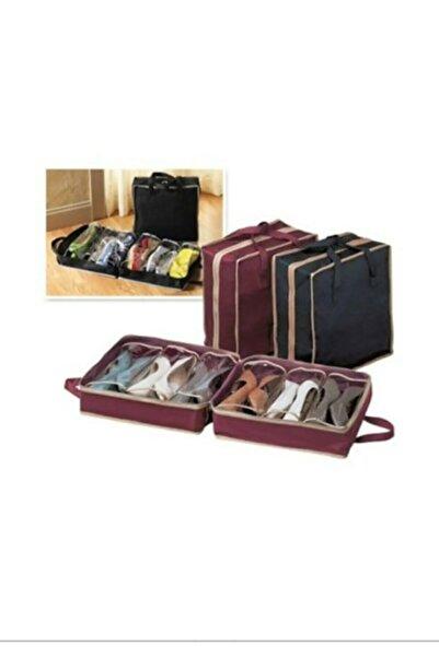 PurpleShopping 6 Bölmeli Ayakkabı Saklama Ve Taşıma Çantası