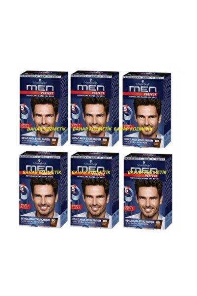 Schwarzkopf Men Perfect Men 80 Siyah Kahve Saç Boyası 6 Adet