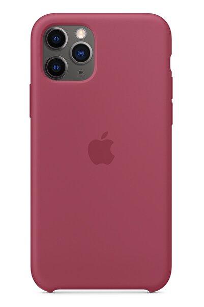 Ebotek Apple Iphone 11 Pro Max Silikon Kılıf Bordo