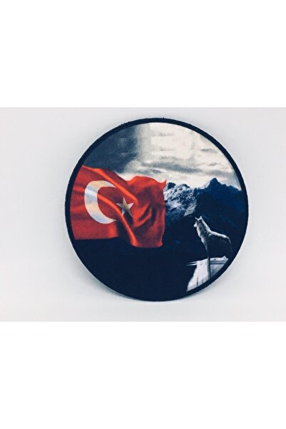 Merit Collection Kurtlu Türk Bayraklı Dijital Baskılı Patch/peç/yama/arma/stıcker