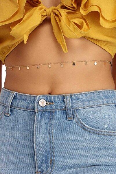 X-Lady Accessories Kadın Made For Sun Pullu Bel Zinciri Vücut Takısı Gold