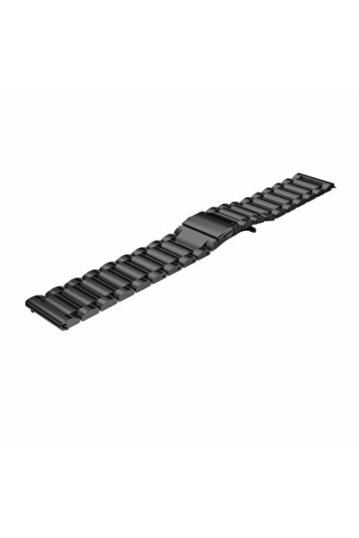 Techmaster Samsung Gear Watch 42mm Gear Sport Active 2 40 44mm Metal Tme Kordon Kayış Siyah 20mm