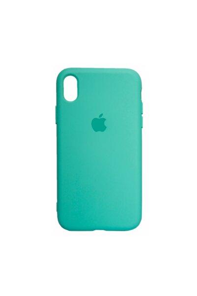 Mopal Apple Iphone Xr Logolu Iç Yüzeyi Kadife Altı Kapalı 360° Tam Koruma Silikon Lansman Kılıf