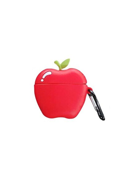Sunix Sevimli Elma Silikon 1.-2. Nesil Apple Airpods Kılıf