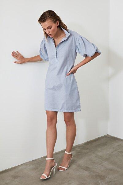 Mavi Çizgili Elbise TWOSS20EL3341