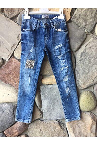 Elif Bebe Kız Çocuk Mavi Likralı Pantolon