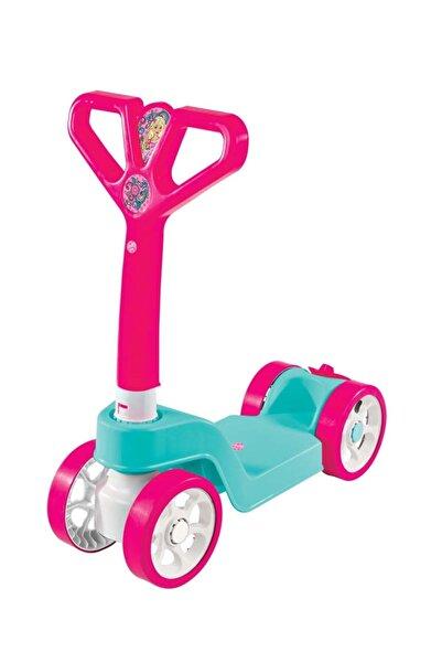 Linda Kız Çocuk Pembe 4 Tekerlekli Katlamalı Scooter
