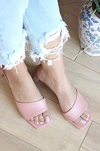Pembe Potin Kadın Pudra Sandalet