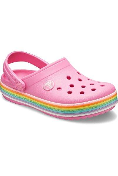 Crocs 206151-669 Crocband Raınbow Glıtter Çocuk Terlik Sandalet