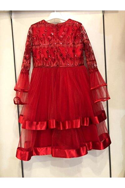 Kız Çocuk Kırmızı Abiye Elbise