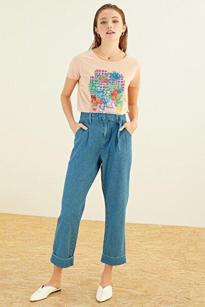 Kadın Somon T-Shirt 384682