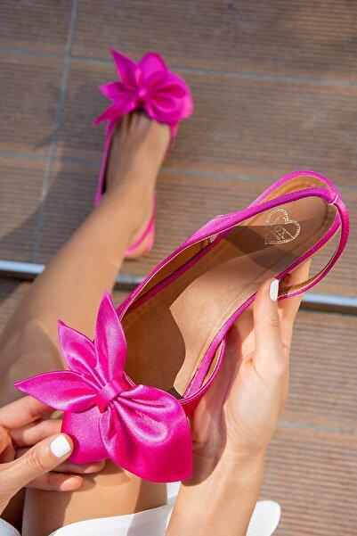 Fox Shoes Fuşya Kadın Babet H726809004