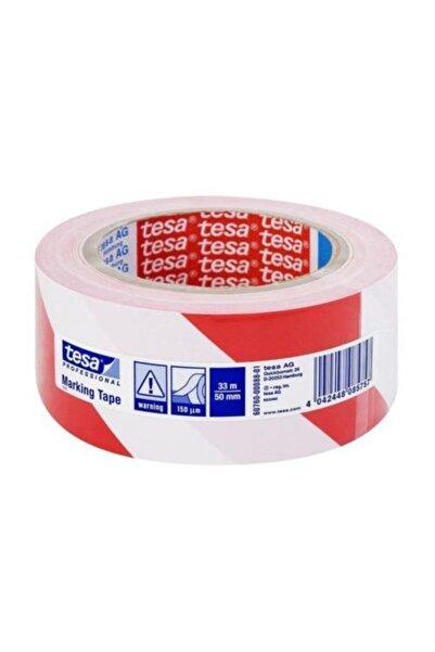 Tesa Ikaz Bandı Yer Işaretleme Çizgili Kırmızı-beyaz 33x50 60760-00092-15